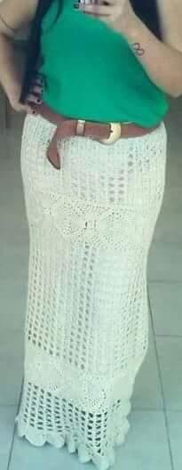 Capa - saia longa feita com a linha anne
